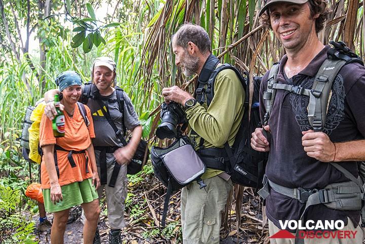 Trekking towards Dukono volcano