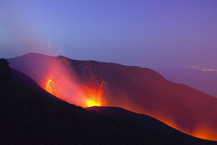 L'éruption en Mai 2008