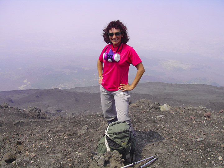 Evelyne Pradal - volcanologist who often accompanies the expedition