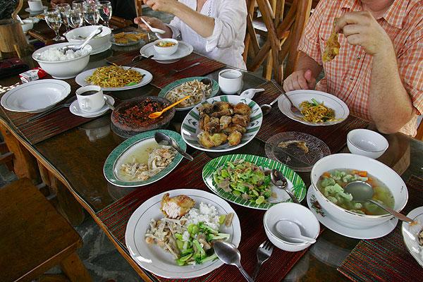 Javanese dinner table