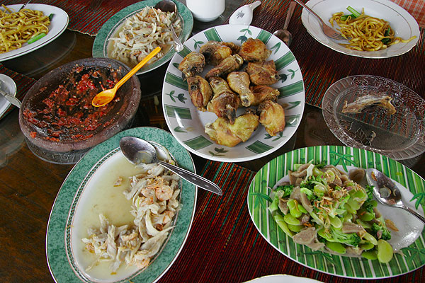 Traditional dinner on Java
