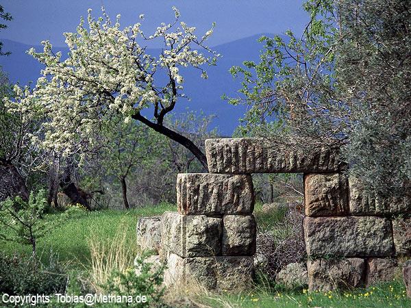 Der antike Turm auf Throni