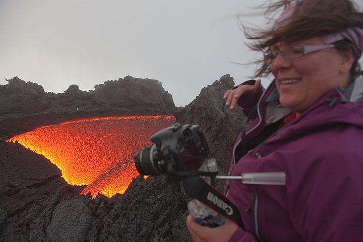 Lava flow at Pacaya volcano