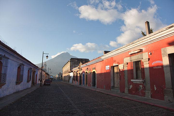 View towards Agua volcano from Antigua