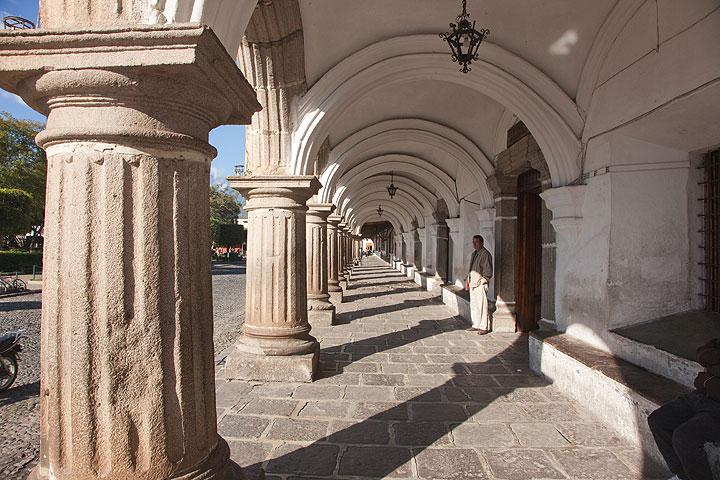 Colonade at Antigua's town hall