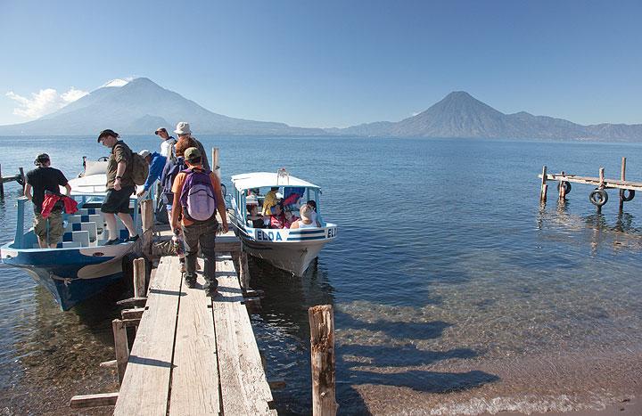 Boat trip on the Atitlán Lake