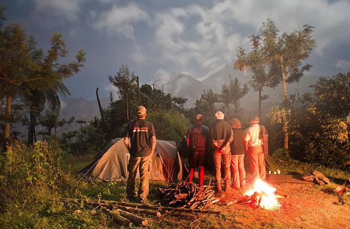 Observation camp near Santiaguito