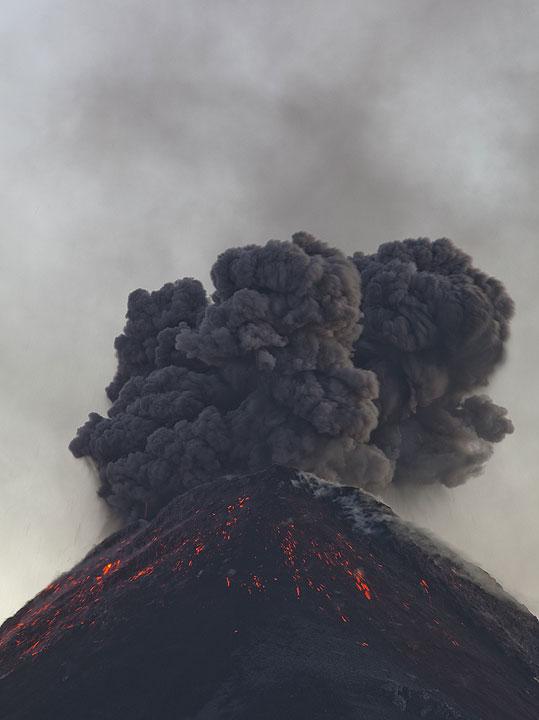 Explosion at Fuego volcano