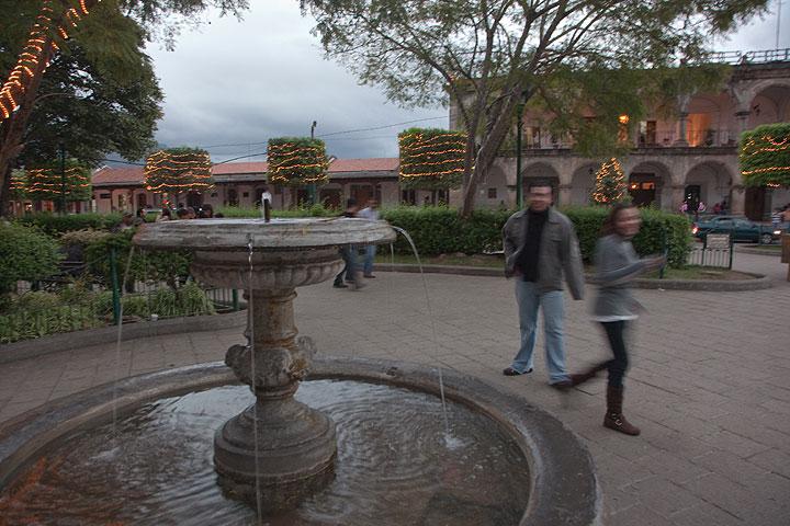 Evening at the Plaza Mayor of Antigua