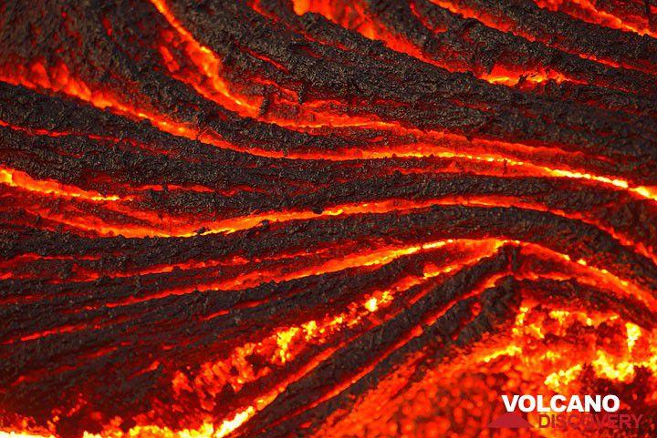 Active pahoehoe lava