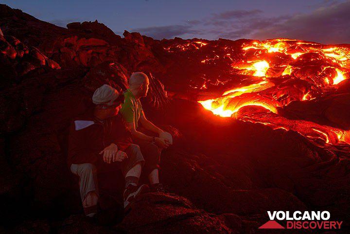 Active lava flows on Kilauea