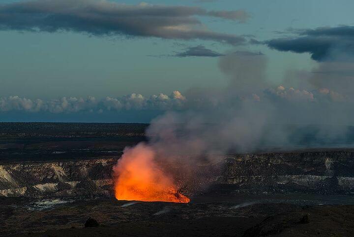 Halema'uma'u crater of Kilauea
