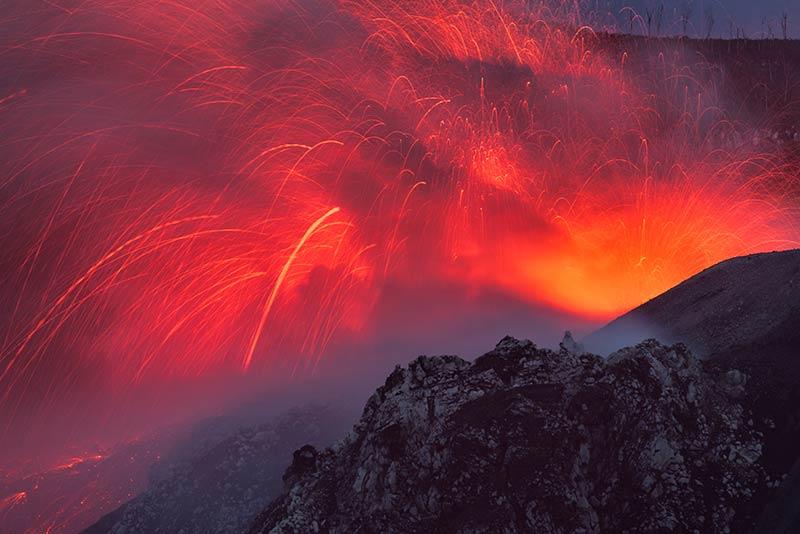 Eruption from Ibu volcano