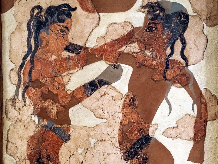 Das Boxer-Fresco, ca. 3645 Jahre alt!
