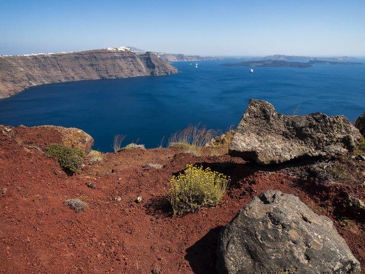 Alter, vulkanischer Schlot bei Ia
