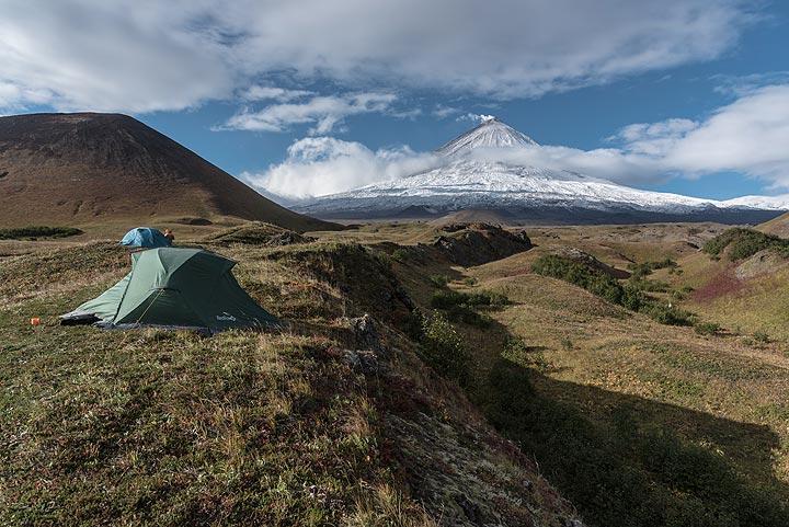 Mighty Klyuchevskoy volcano
