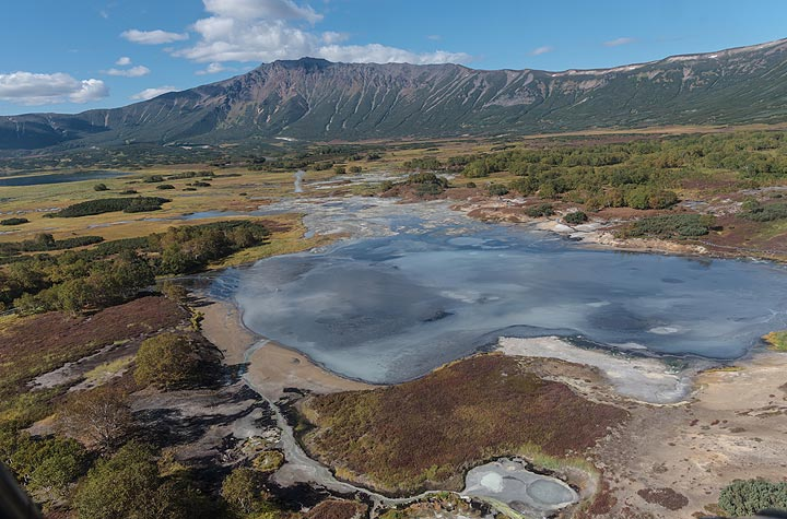 The hydrothermally active Uzon caldera