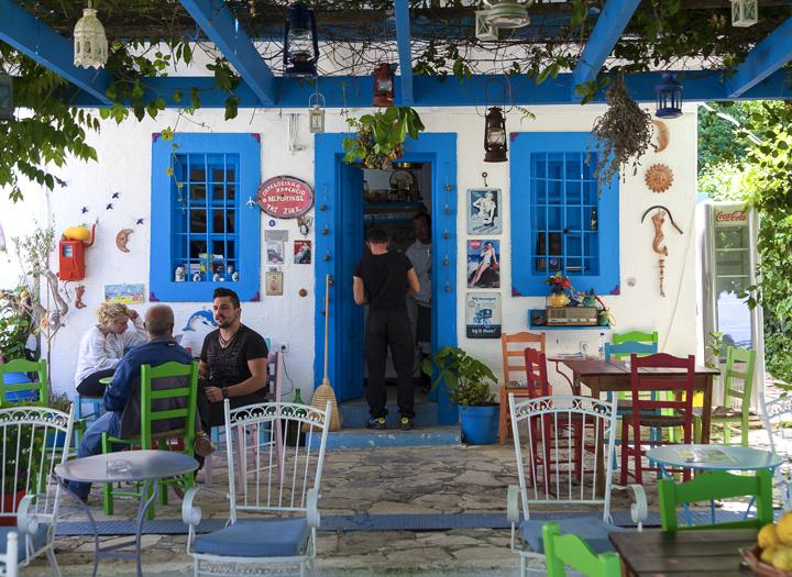 The watermill café at Zia village
