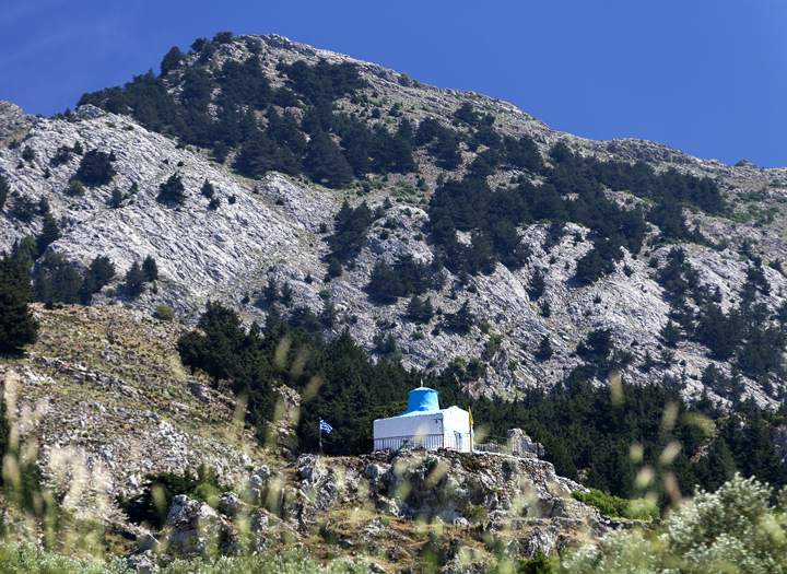 Little chapel in the mountains of Cos