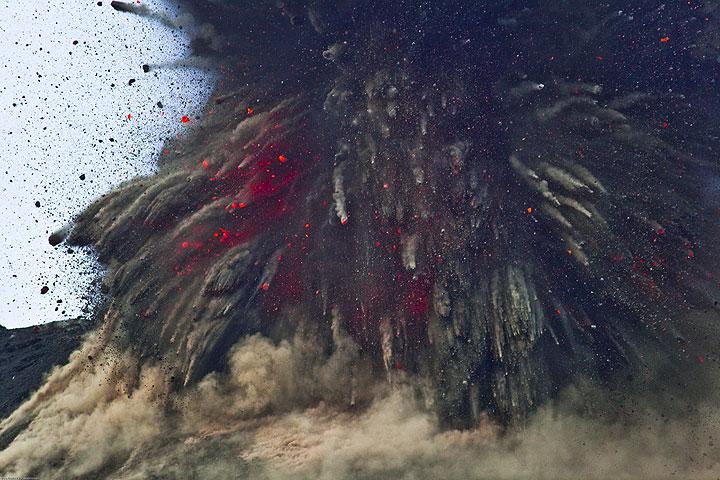 Explosion at Krakatau volcano