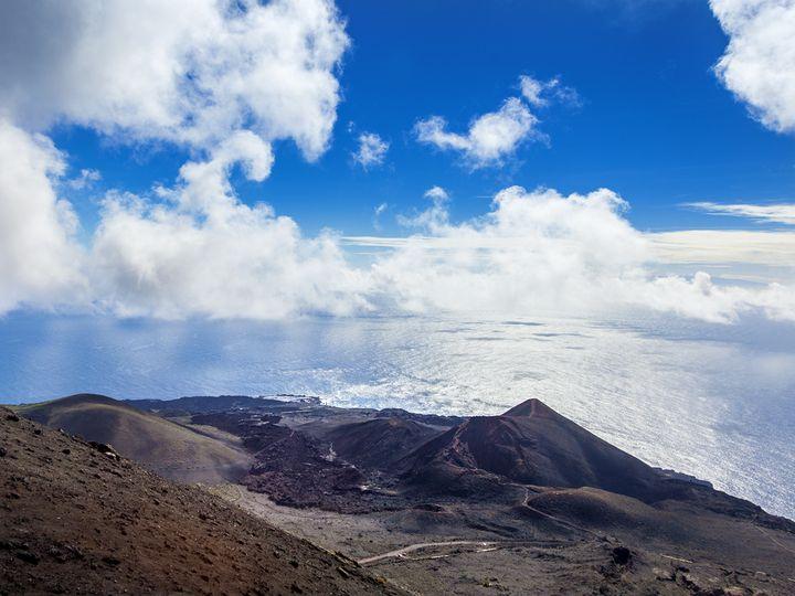 The Teneguia volcano on La Palma