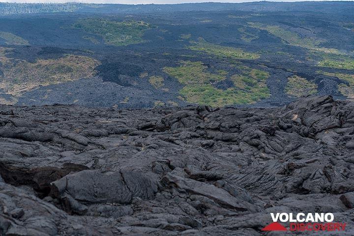 Lava flows from  Pu´u O´o east rift zone eruption