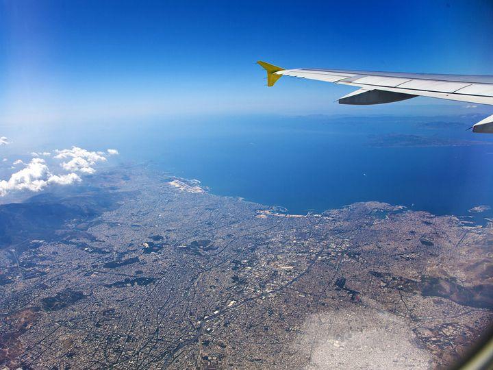 Ankunft über Athen
