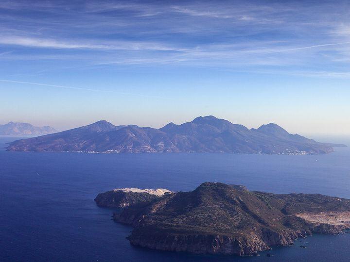 Aerial photo of Yali and Nisyros island