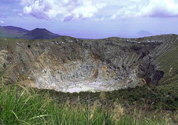 Mahawu volcano's crater