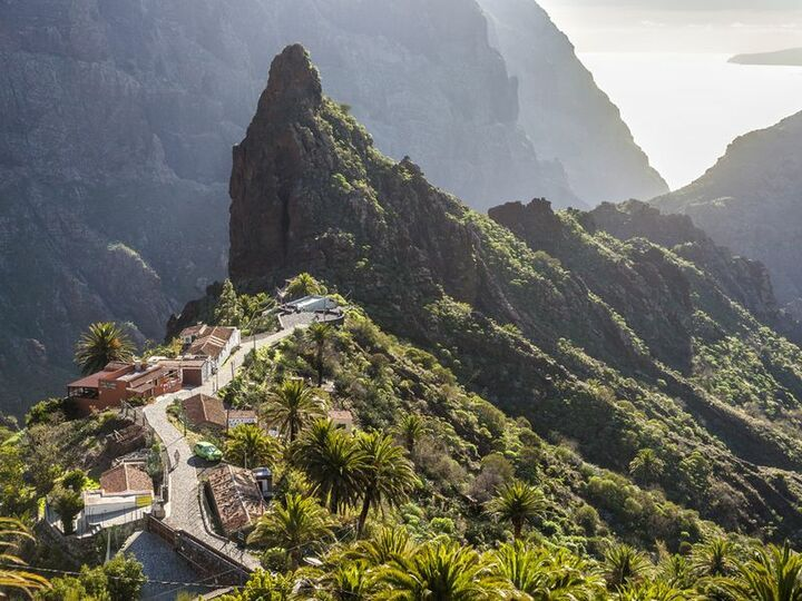 A volcanic dyke in the Masca valley on Tenerife