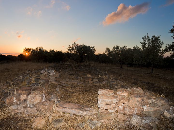 Ein prähistorischer Tempel aus der mykenischen Zeit um 1200-1400 v.Chr.