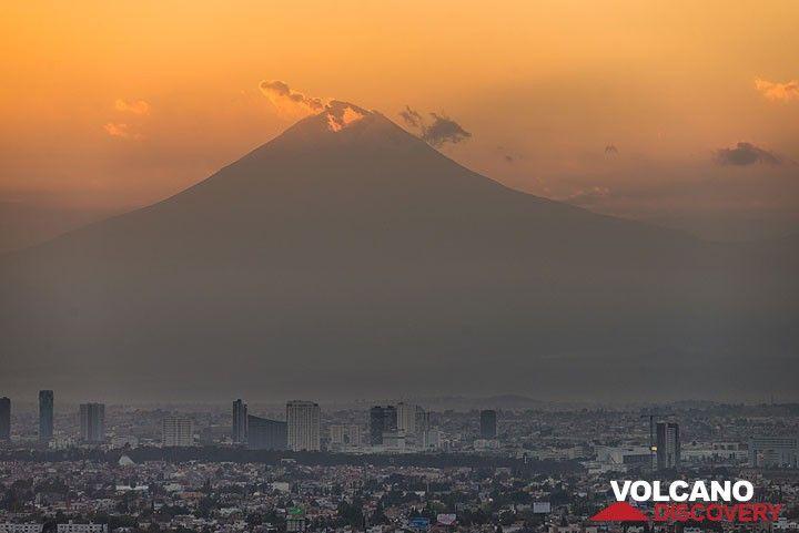 Popo seen from Puebla city
