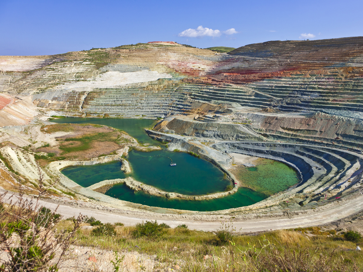 Bergbau auf Milos