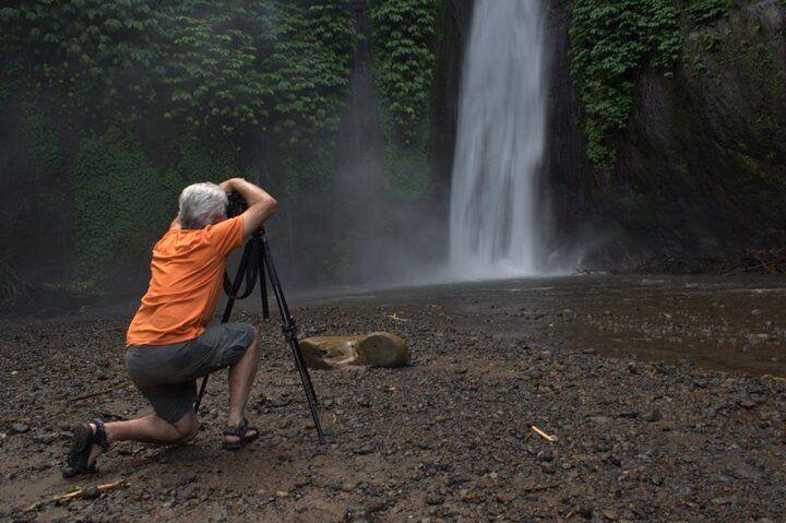 Roland at work at the Kajoran waterfall