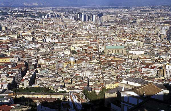 The historic center of Naples