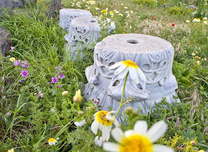 Ancient columns at the acropolis
