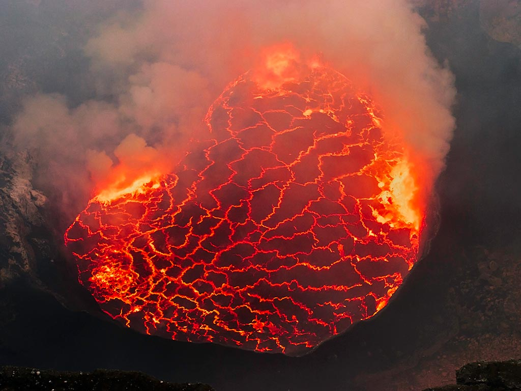 Nyiragongo's lava lake and the mountain gorillas: expedition
