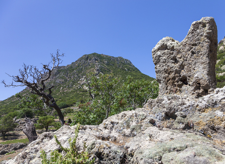 Part of the Minoan sanctuary at Nymphios valley