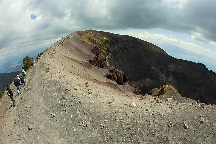 Hike along the summit crater of Vesuvius