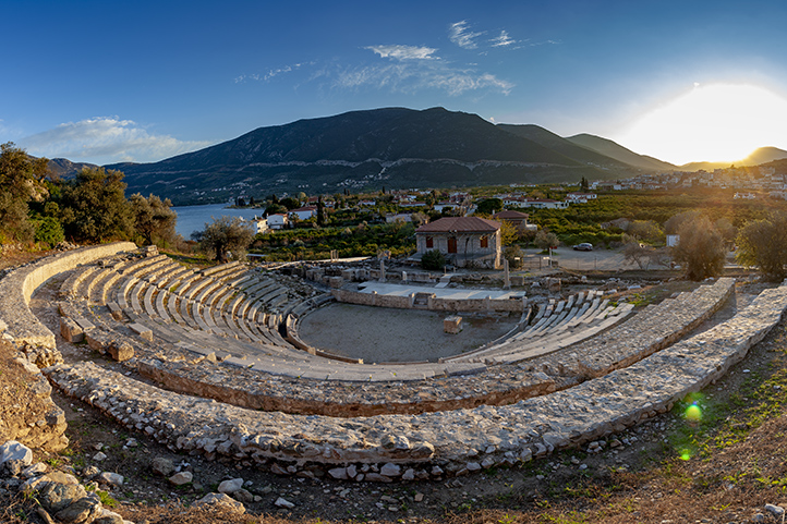 The ancient theatre of Palia Epidavros is one of the most beautiful ancient theatres in Greece.