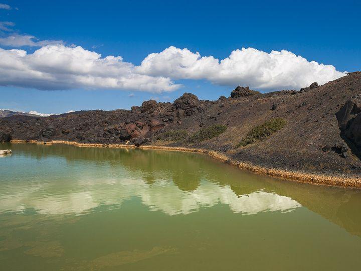Der Kratersee auf Palia Kameni