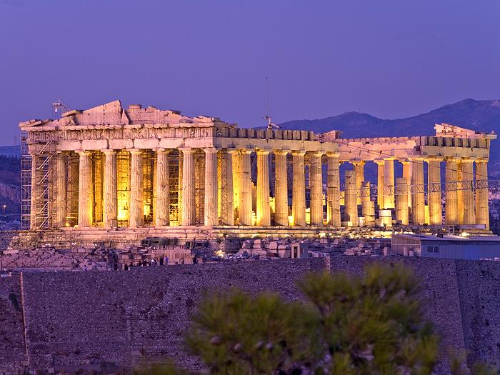 Der berühmte Tempel der Athena Parthenon