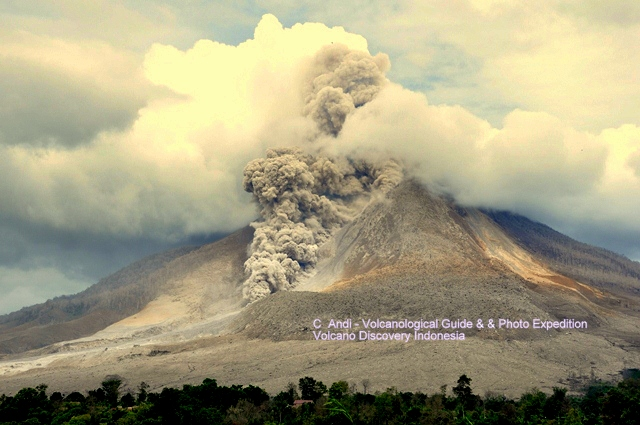 Pyroclastic flow at Sinabung