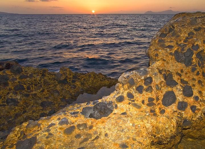 Pilow lavas at the beach Kohlaki