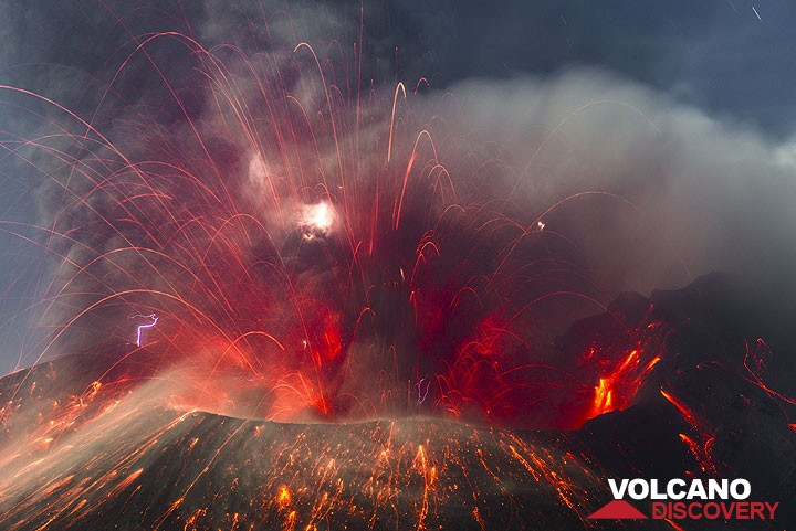 Eruption from Sakurajima volcano