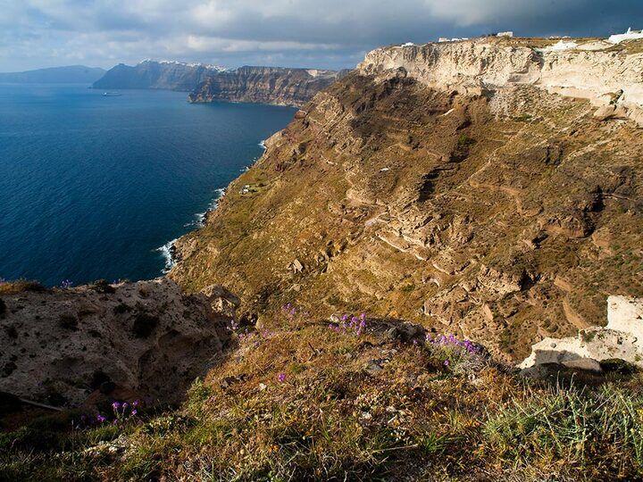 Santorini Caldera-Klippen