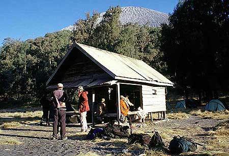 Our camp at the base of  Semeru cone
