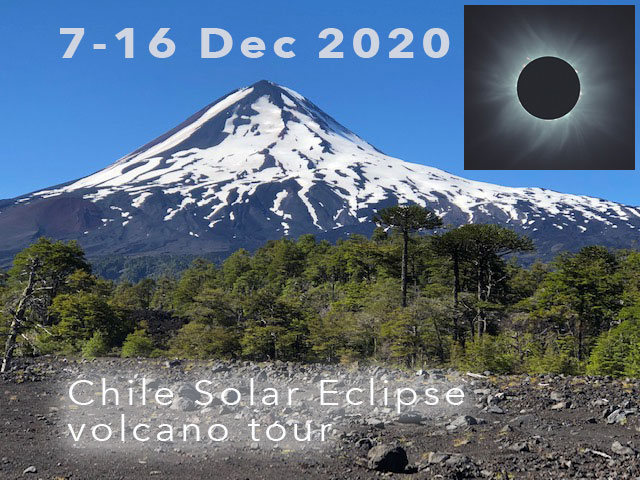 Solar eclipse and Lonquimay volcano (photo: S. Naser & M. Fulle)