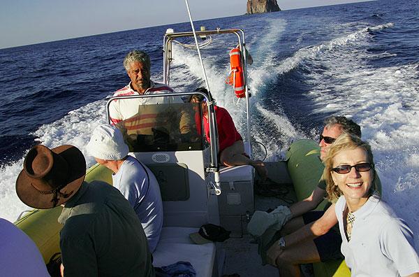 Boat trip around Stromboli island