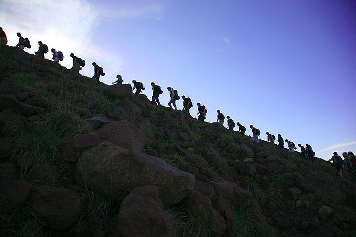 Group climbing Stromboli